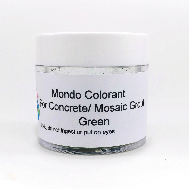 Green Grout Colorant : Mondo colorant for concrete jewelry cement